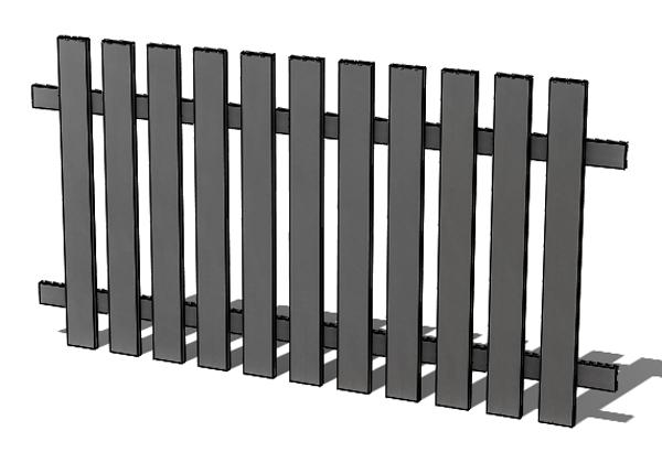 Provedení hliníkového plotu P1