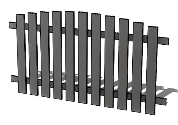 Provedení hliníkového plotu P2