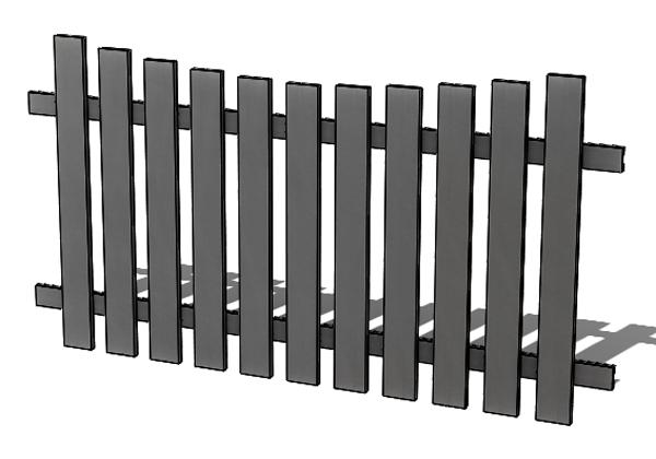 Provedení hliníkového plotu P3