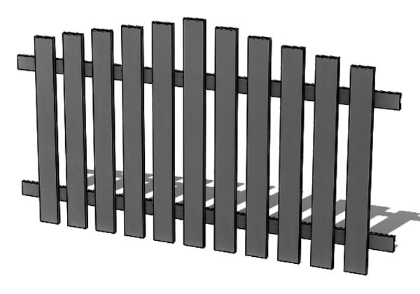 Provedení hliníkového plotu P4