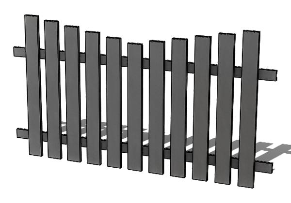 Provedení hliníkového plotu P5