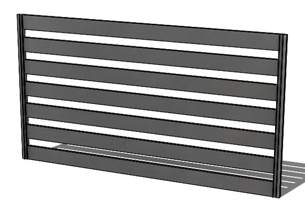 Provedení hliníkového plotu P6