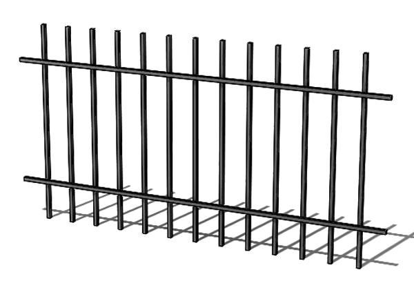 Provedení hliníkového plotu T1