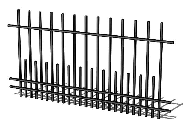 Provedení hliníkového plotu T10