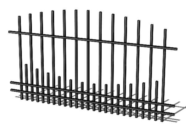 Provedení hliníkového plotu T11