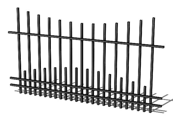 Provedení hliníkového plotu T12