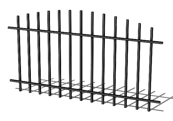 Provedení hliníkového plotu T2