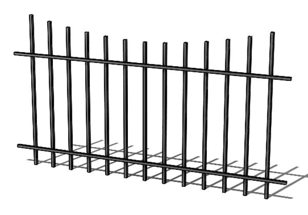 Provedení hliníkového plotu T3