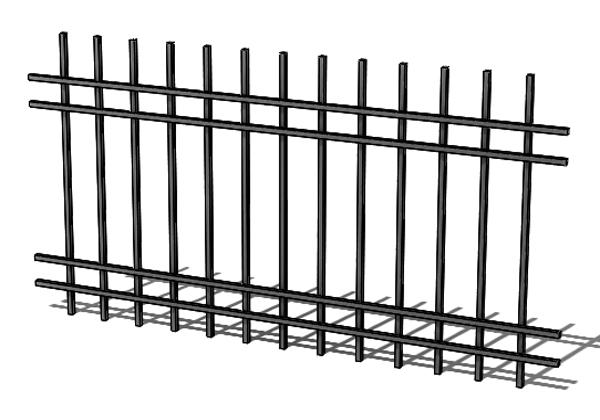 Provedení hliníkového plotu T4