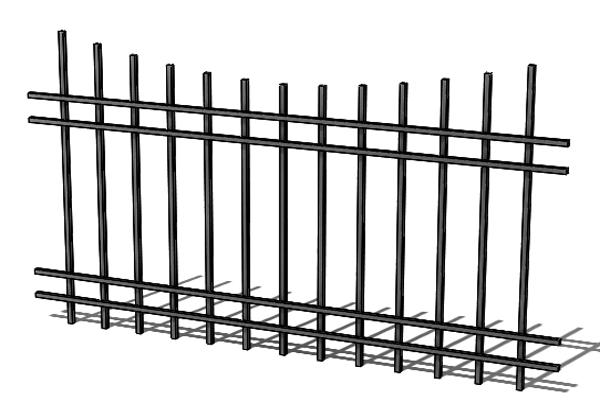Provedení hliníkového plotu T6