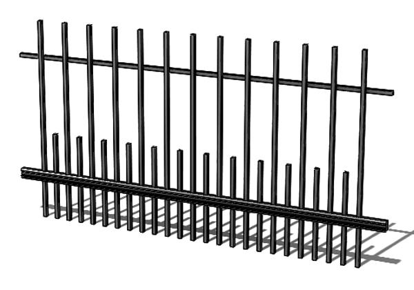 Provedení hliníkového plotu T7