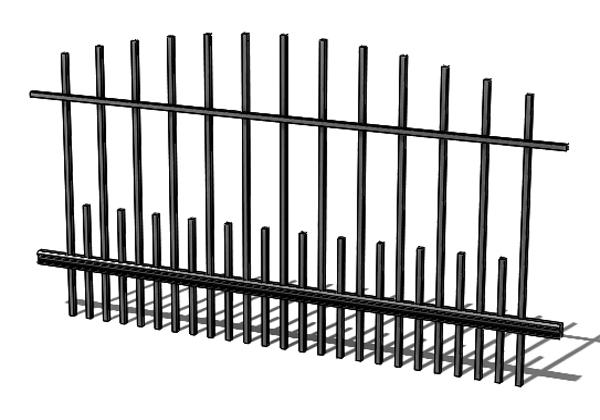 Provedení hliníkového plotu T8