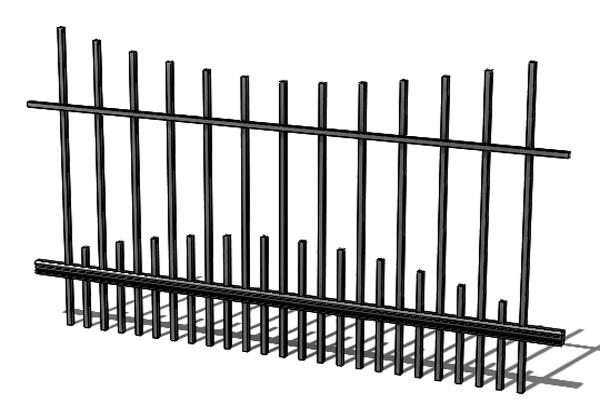 Provedení hliníkového plotu T9